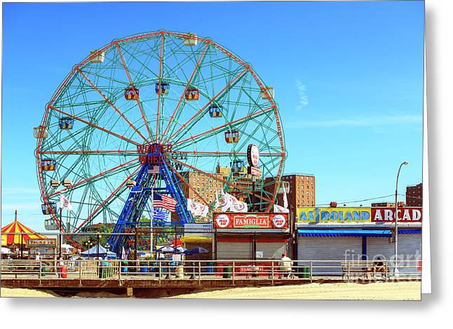 Wonder Wheel Colors Coney Island Greeting Card