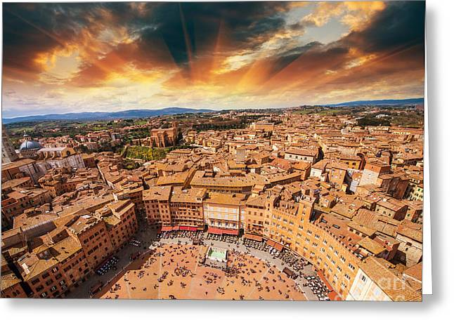 Wonderful Aerial View Of Piazza Del Greeting Card