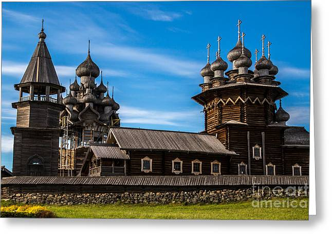 Wooden Architecture Nordic Countries Greeting Card