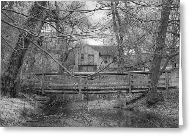 Wooden Bridge Over Stream - Waterloo Village Greeting Card