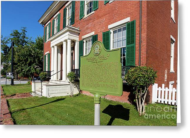 Woodrow Wilson Boyhood Home - Augusta Ga 1 Greeting Card