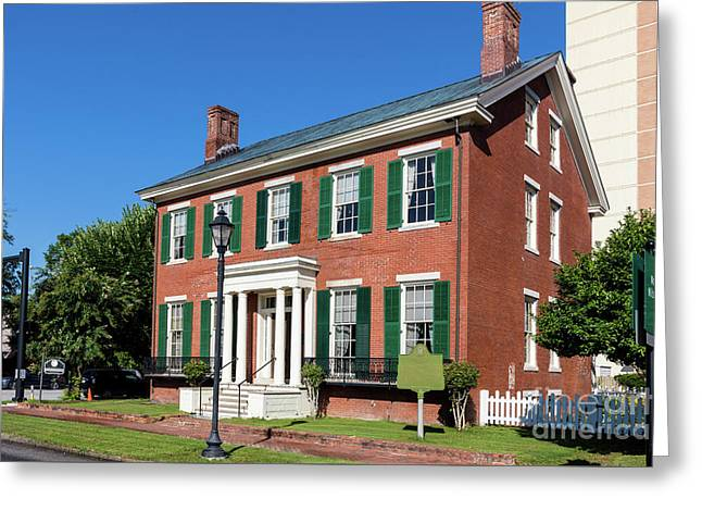 Woodrow Wilson Boyhood Home - Augusta Ga 3 Greeting Card