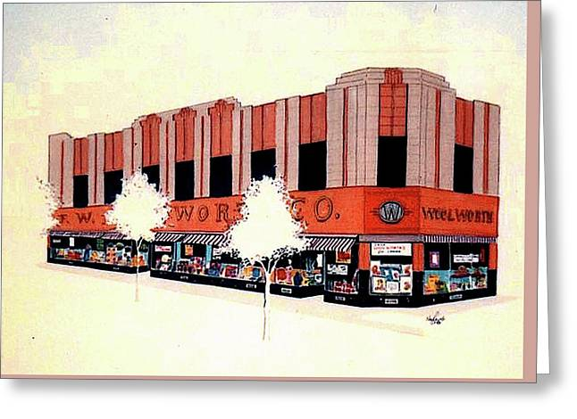 Woolworth On Market St. Greeting Card