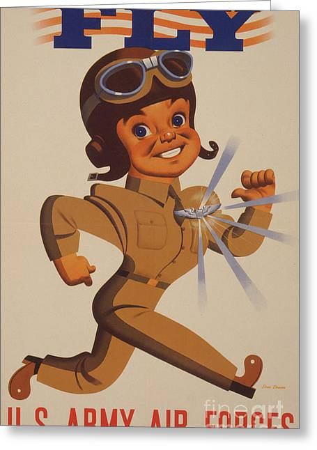 World War II Recruitment Poster  Fly  Us Army Air Forces, 1942  Greeting Card