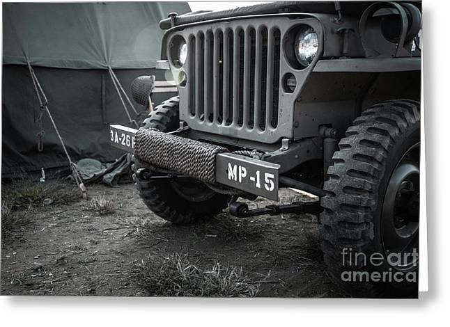 World War II Us Army Mp Jeep Greeting Card