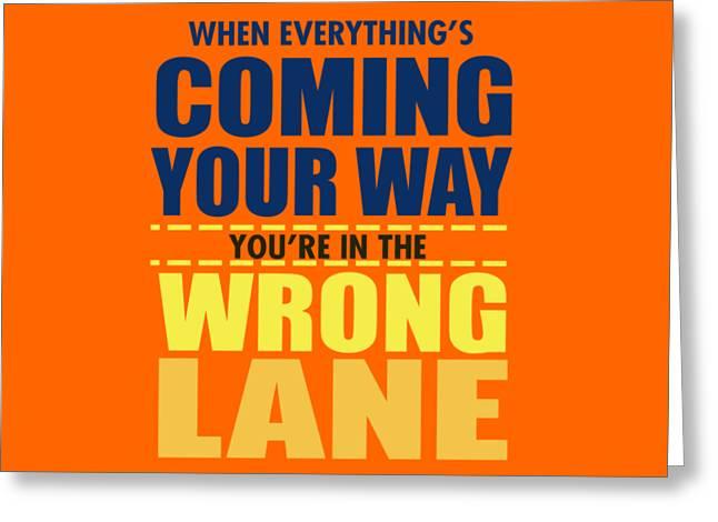 Wrong Lane Greeting Card