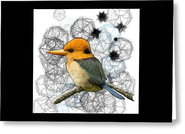 Y Is For Yellow Billed Kingfisher Greeting Card