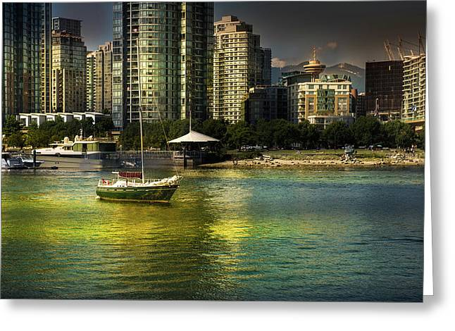 Yaletown Sunset Greeting Card