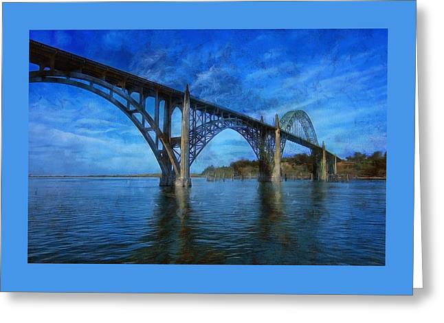 Yaquina Bay Bridge From South Beach Greeting Card