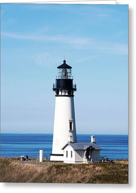 Greeting Card featuring the photograph Yaquina Head Lighthouse 101618 by Rospotte Photography