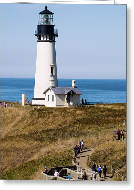 Greeting Card featuring the photograph Yaquina Head Lighthouse 102518 by Rospotte Photography