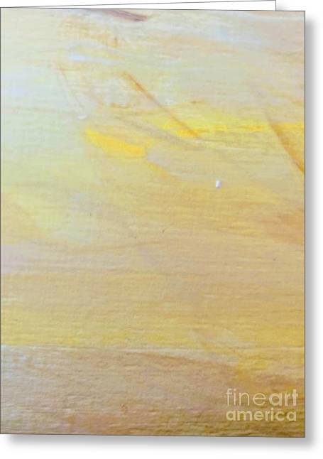 Greeting Card featuring the painting Yellow #2 by Maria Langgle