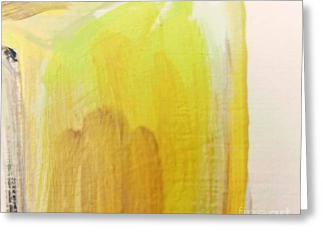 Greeting Card featuring the painting Yellow #3 by Maria Langgle