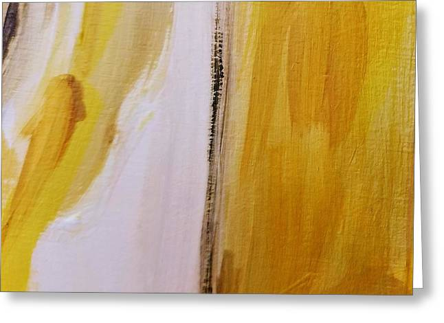 Greeting Card featuring the painting Yellow #5 by Maria Langgle