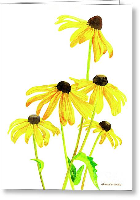 Yellow Black Eyed Susans Greeting Card