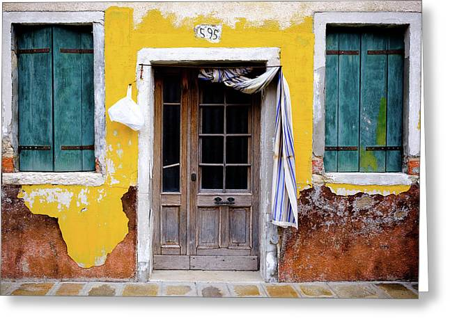Greeting Card featuring the photograph Yellow Doorway by Nicole Young