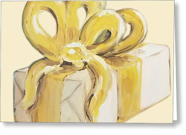 Yellow Present Greeting Card