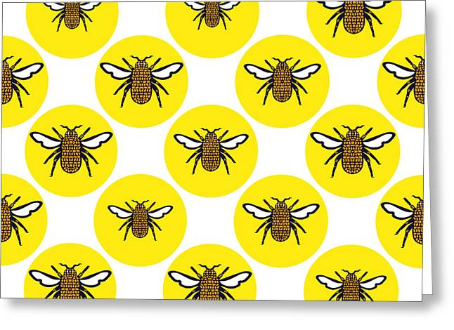 Yellow Print Design Background Of Greeting Card