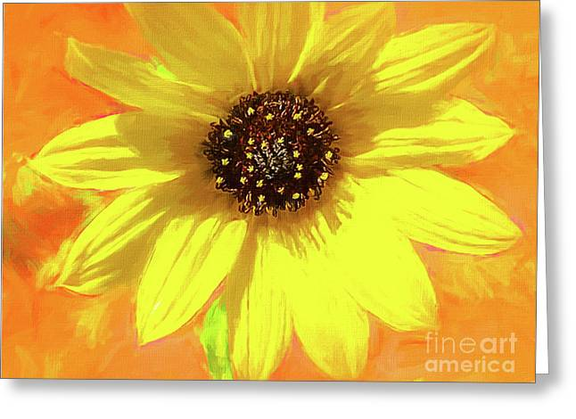 Yellow Sunshiny Visions Of Spring Greeting Card