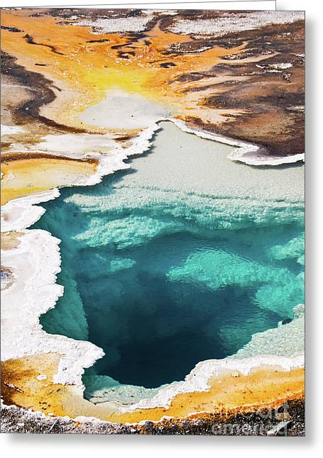 Yellowstone Hot Spring Vertical Greeting Card