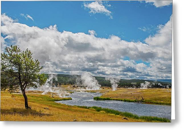 Greeting Card featuring the photograph Yellowstone Rising by Matthew Irvin