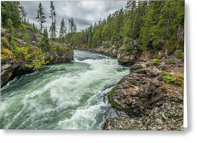 Greeting Card featuring the photograph Yellowstone River Falling by Matthew Irvin