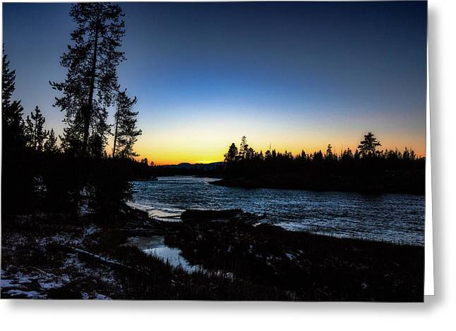 Greeting Card featuring the photograph Yellowstone River by Pete Federico