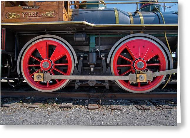 Greeting Card featuring the photograph York 17 Steam Engine by Mark Dodd
