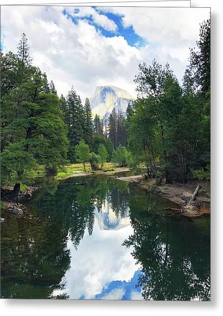 Yosemite Classical View Greeting Card