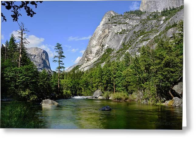 Yosemite Mirror Lake, Lower Pool Greeting Card