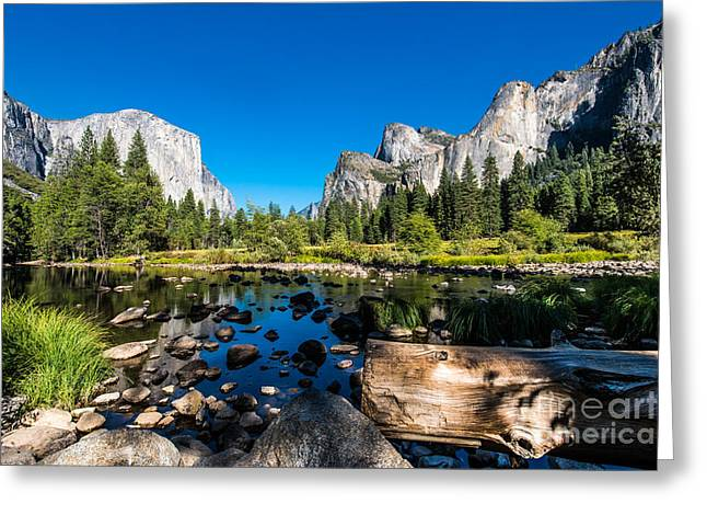 Yosemite National Park, Mountains And Greeting Card