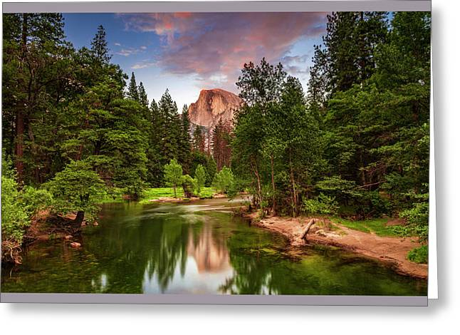 Yosemite Sunset - Single Image Greeting Card