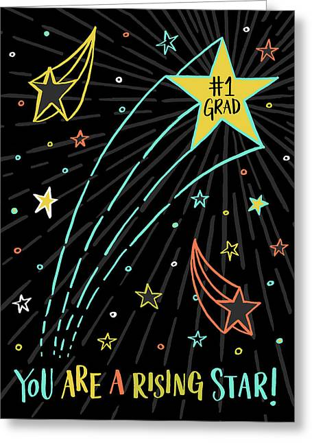 You Are A Rising Star Grad Card Greeting Card