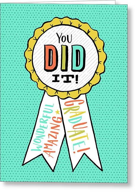 You Did It Award Grad Card Greeting Card