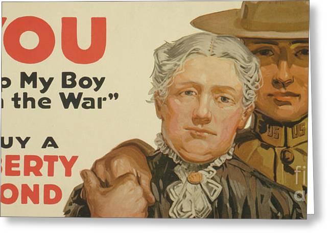 You, Help My Boy Win The War  Buy A Liberty Bond, 1917 Greeting Card