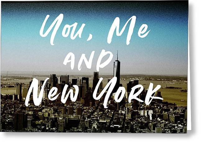 You Me New York Color- Art By Linda Woods Greeting Card