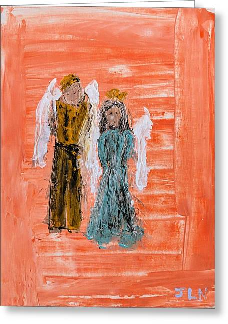 Young Love Angels Greeting Card