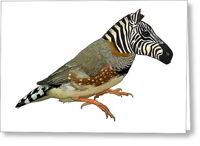 Z Is For Zebra Finch Thats Not A Zebra Finch Greeting Card