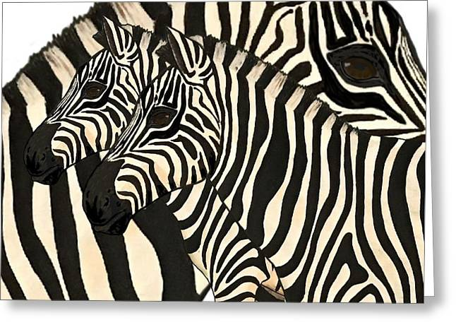 Z Is For Zebras Greeting Card