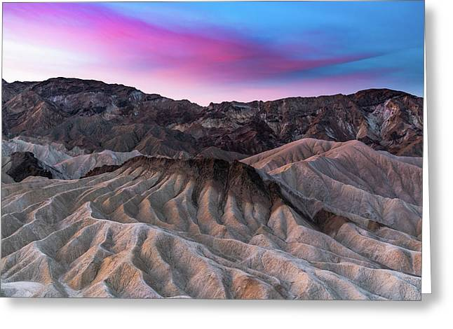 Zabriskie Sunrise Greeting Card