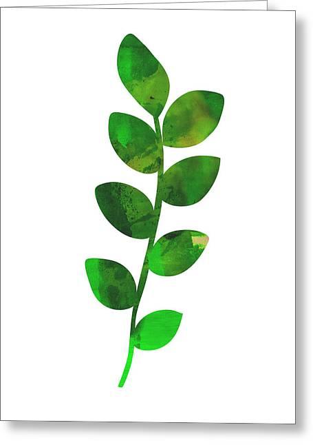 Zamioculcas Leaf Greeting Card