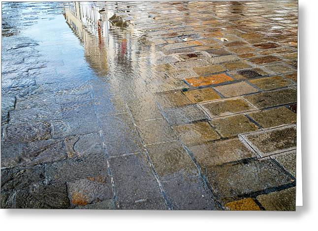 Zattere Reflections, Venice Greeting Card