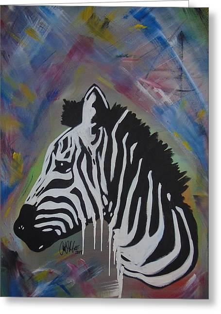 Zebra Drip Greeting Card