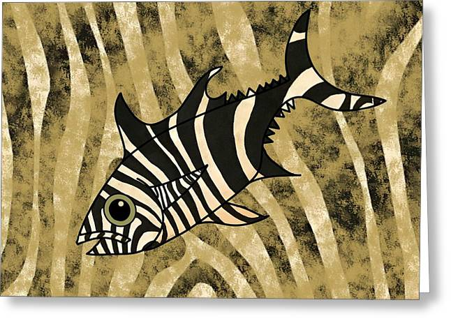 Zebra Fish 1 Greeting Card