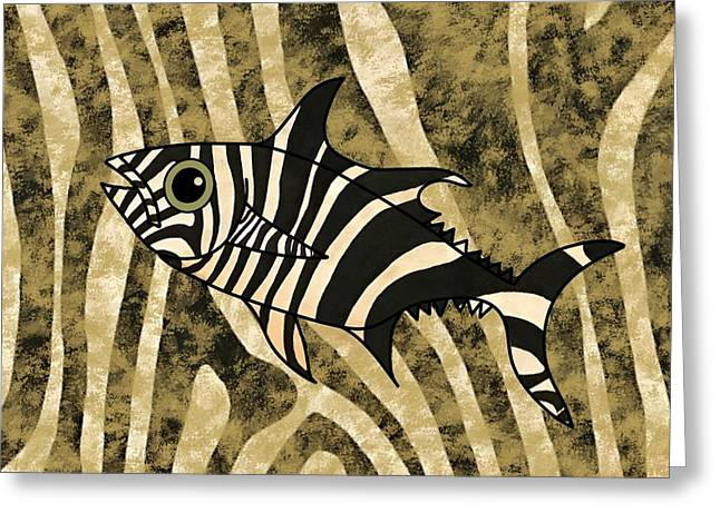Zebra Fish 2 Greeting Card