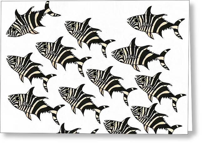 Zebra Fish 2 Of 4 Greeting Card