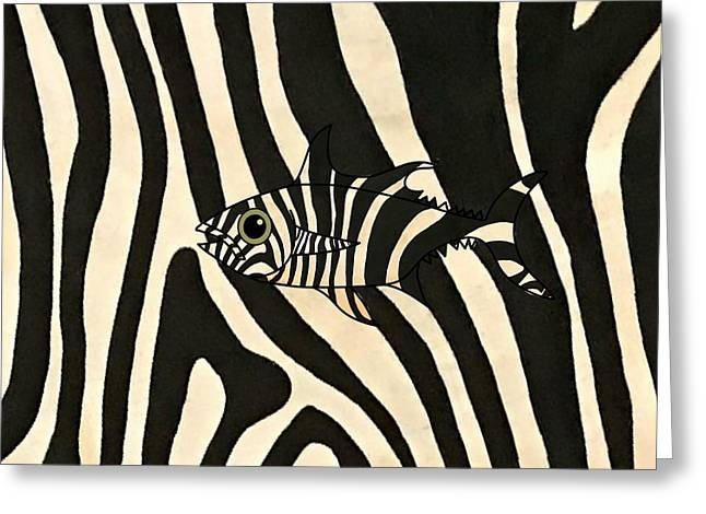 Zebra Fish 3 Greeting Card
