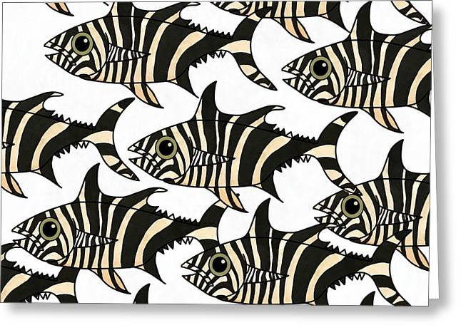 Zebra Fish 4 Greeting Card