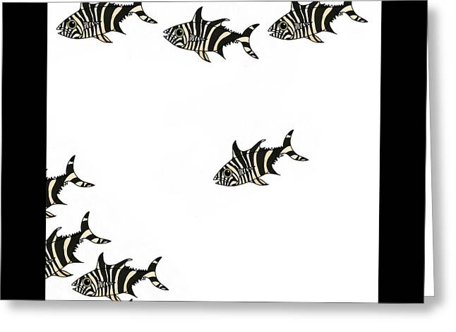 Zebra Fish 4 Of 4 Greeting Card