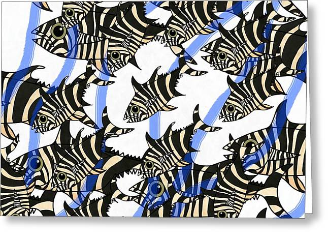 Zebra Fish 8 Greeting Card